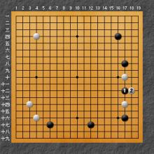 黒の攻撃からの戦いの図
