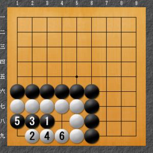 囲碁、隅の基本死活、8目型完全形解答図