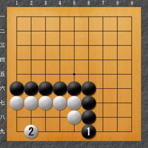 囲碁、隅の基本死活、8目型定石