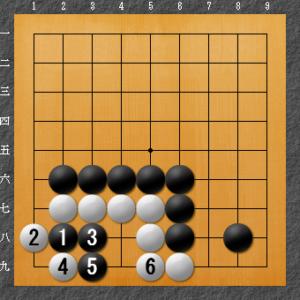 囲碁、隅の基本死活、タイプ1解答