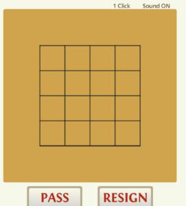 囲碁対局ゲームCosumiの5路盤