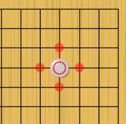 囲碁のルールでの石1個の取り方