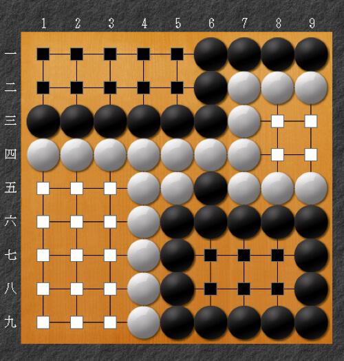 囲碁のルールで地の数え方