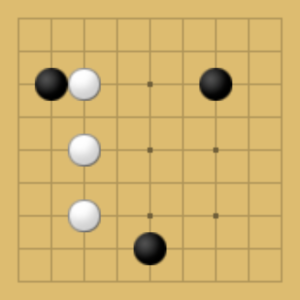 囲碁9路盤での悪い打ち方の例