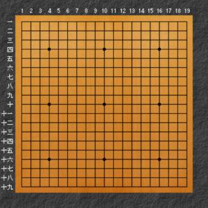囲碁碁盤の説明19路盤