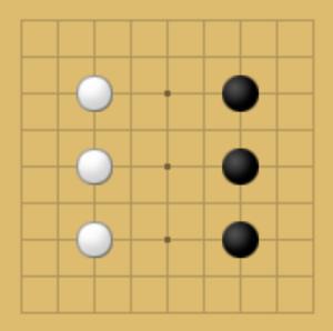 囲碁9路盤での良い打ち方の例