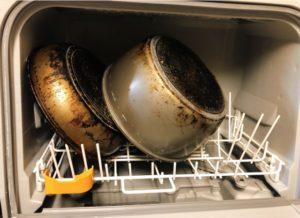 panasonic食洗機NP-TCR4にフライパン-300x218