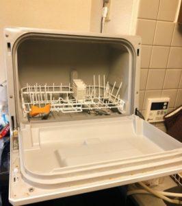 panasonic食洗機NP-TCR4の扉を開けた後-266x300