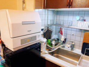 panasonic食洗機NP-TCR4の設置例-300x224